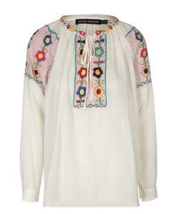 Antik Batik   Блуза С Контрастной Вышивкой И Круглым Вырезом
