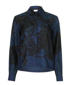 Dries Van Noten   Шелковая Блуза Прямого Кроя С Цветочным Принтом