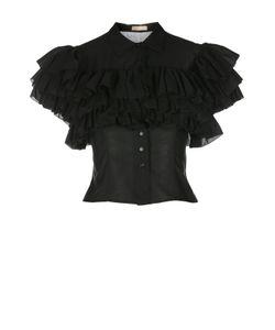 Alaïa | Укороченная Приталенная Блуза С Оборками