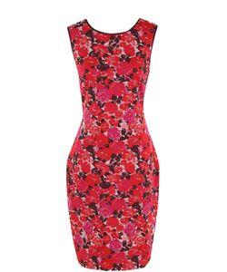 St. John | Приталенное Мини-Платье С Цветочным Принтом