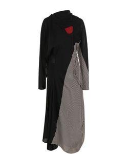 Acne   Шерстяное Платье-Миди С Открытой Спиной Studios