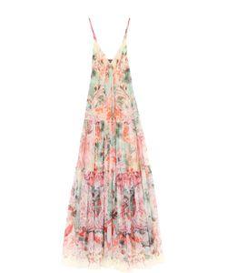 Roberto Cavalli | Платье-Макси На Тонких Бретельках С Цветочным Принтом