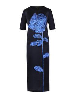 Escada | Шелковое Платье Прямого Кроя С Цветочным Принтом