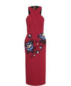 Roland Mouret | Платье-Футляр С Цветочной Вышивкой