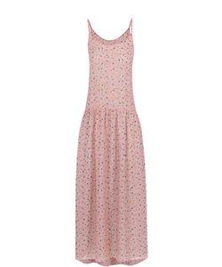 Poustovit | Платье-Миди На Тонких Бретельках С Цветочным Принтом