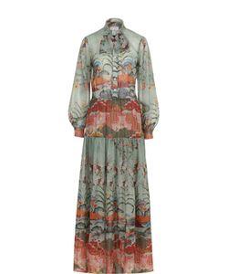 Stella Jean | Платье-Рубашка С Цветочным Принтом И Воротником Аскот
