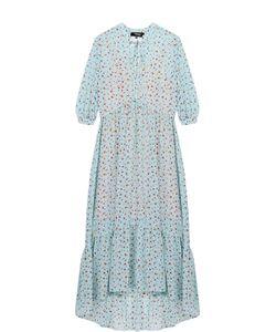 Poustovit | Платье-Макси С Цветочным Принтом И Укороченным Рукавом