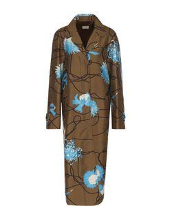 Dries Van Noten | Пальто Свободного Кроя С Цветочным Принтом