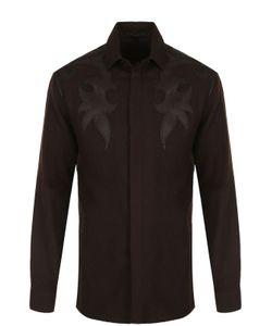 Haider Ackermann | Шерстяная Рубашка С Кожаной Отделкой