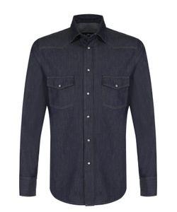 Brioni | Хлопковая Рубашка На Кнопках В Контрастную Полоску