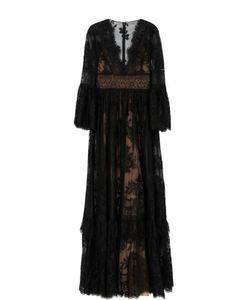 Zuhair Murad | Кружевное Платье-Макси С V-Образным Вырезом