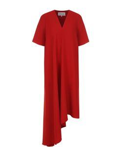 Maison Margiela | Платье Асимметричного Кроя С V-Образным Вырезом