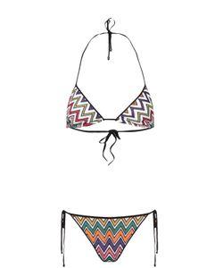 Missoni | Раздельный Купальник С Треугольным Бра И Контрастным Принтом