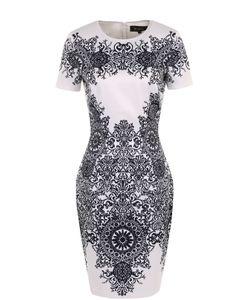 St. John | Приталенное Мини-Платье С Принтом