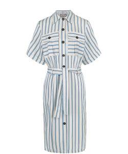 Paul & Joe | Платье-Рубашка В Контастную Полоску С Поясом Pauljoe