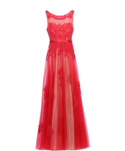 Basix Black Label | Приталенное Кружевное Платье В Пол С Декоративной Вышивкой