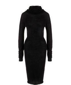 Isabel Benenato   Платье Из Смеси Хлопка И Шерсти С Высоким Воротником