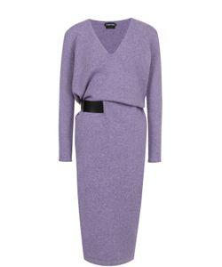 Tom Ford | Кашемировое Платье С V-Образным Вырезом И Поясом