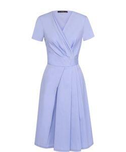 Windsor | Хлопковое Платье С Запахом И Коротким Рукавом