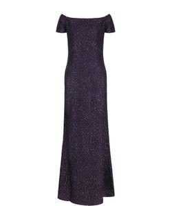 St. John | Приталенное Платье-Макси С Открытыми Плечами
