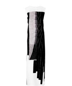 DKNY | Шелковое Платье-Макси С Разрезами И Контрастным Принтом