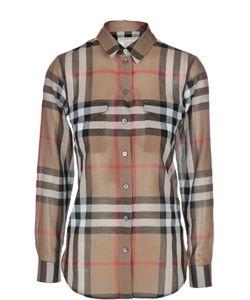 Burberry Brit | Блуза Свободного Кроя В Клетку С Накладными Карманами