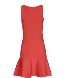 Polo Ralph Lauren | Приталенное Мини-Платье С Широкой Оборкой И Открытой Спиной