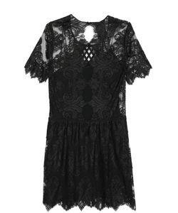 Burberry Prorsum | Кружевное Мини-Платье Свободного Кроя