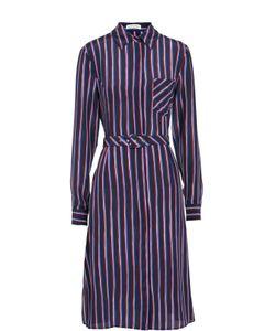 Altuzarra | Шелковое Приталенное Платье-Рубашка В Контрастную Полоску