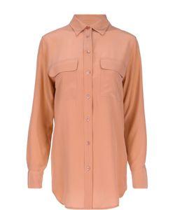 Equipment | Удлиненная Шелковая Блуза С Нашивными Карманами