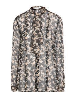 BOSS | Шелковая Полупрозрачная Блуза С Бантом