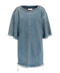 Chloe | Джинсовое Платье Прямого Кроя С Необработанными Краями Chloé