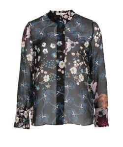 Dorothee Schumacher | Шелковая Блуза С Воротником-Стойкой И Цветочным Принтом