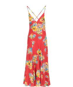 Polo Ralph Lauren | Шелковое Платье-Макси С Открытой Спиной И Цветочным Принтом