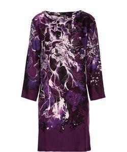 Roberto Cavalli | Платье Прямого Кроя С Контрастным Принтом