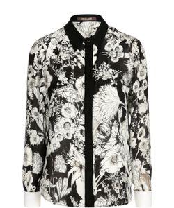 Roberto Cavalli | Шелковая Блуза С Контрастным Принтом