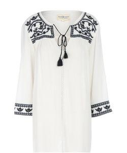 Denim & Supply Ralph Lauren | Хлопковая Удлиненная Блуза С Вышивкой И Кистями Denimsupply By Ralph Lauren