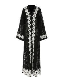 Dolce & Gabbana | Кружевное Платье-Туника С Контрастной Отделкой