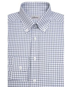 Brioni | Хлопковая Рубашка В Клетку