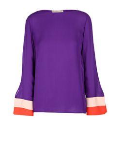 Emilio Pucci | Шелковая Блуза С Вырезом-Лодочка И Контрастной Отделкой