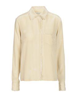 Dries Van Noten | Шелковая Блуза С Бахромой И Накладным Карманом