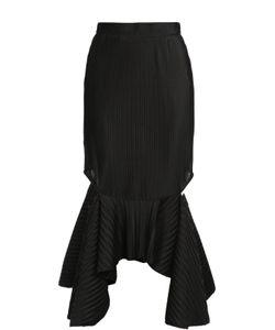 Givenchy | Фактурная Юбка Асимметричного Кроя С Разрезами