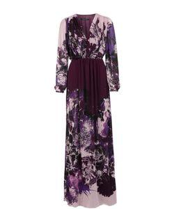 Roberto Cavalli | Приталенное Платье В Пол С V-Образным Вырезом
