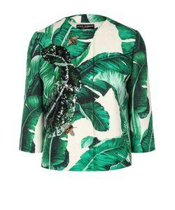 Dolce & Gabbana | Жакет С Укороченным Рукавом Цветочным Принтом И Вышивкой
