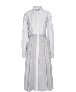 TOME | Хлопковое Платье-Рубашка В Полоску С Вырезом На Спине