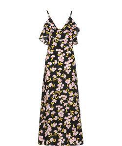 Marni | Шелковое Платье-Макси На Бретельках С Цветочным Принтом