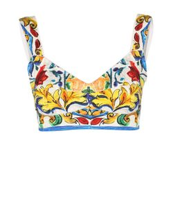 Dolce & Gabbana | Топ-Бюстье С Ярким Принтом