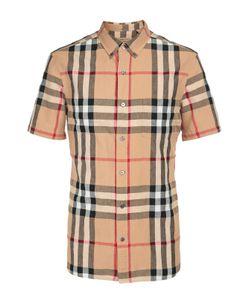 Burberry Brit   Рубашка Из Смеси Льна И Хлопка
