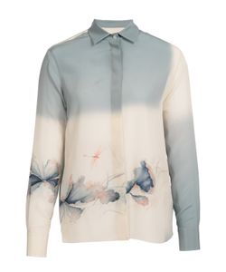 Valentino | Шелковая Блуза Прямого Кроя С Цветочным Принтом
