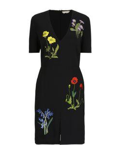 Stella Mccartney | Приталенное Платье С Цветочной Вышивкой